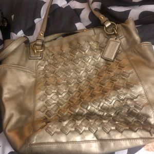Coach Leather Gold Bag